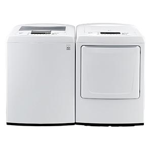 LG 4.5 Cu. Ft. Top-Load Washer and 7.3 Cu. Ft. Gas Dryer
