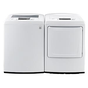 LG 4.5 Cu Ft Top-Load Washer and 7.3 Cu Ft Electric Dryer