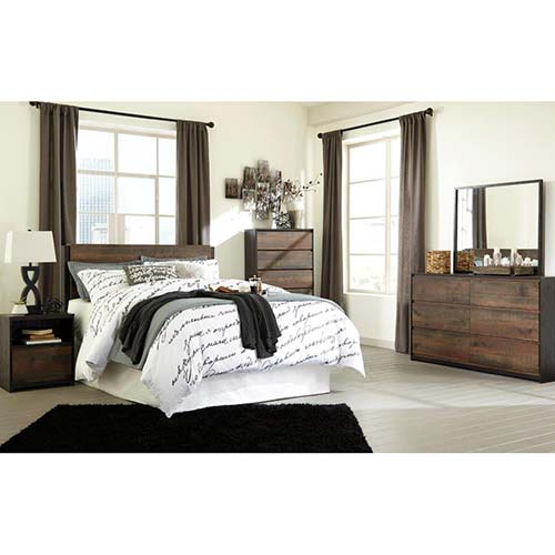 Signature Design by Ashley Windlore 6-piece Queen Bedroom Set- Room View