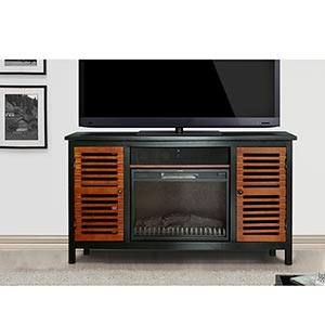 Innovex Montego Electric Fireplace TV Stand with Soundbar