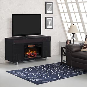 ClassicFlame Enterprise Electric Fireplace TV Stand with Soundbar