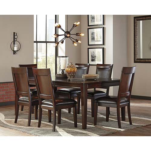 Signature Design by Ashley Shadyn 7-Piece Dining Set- Room View