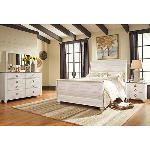 Rent Ashley Willowton 6-Piece Queen Bedroom Set
