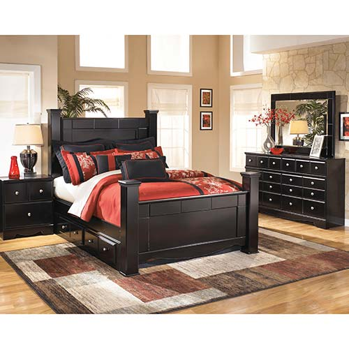 Rent To Own Ashley Shay 8 Piece Queen Bedroom Set