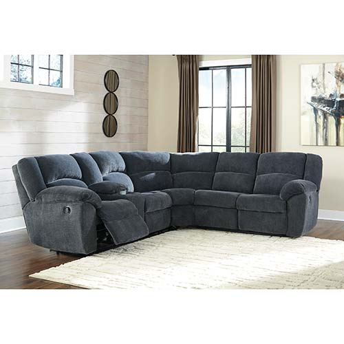 Signature Design by Ashley Timpson-Indigo 2-piece Motion Sectional- Room View