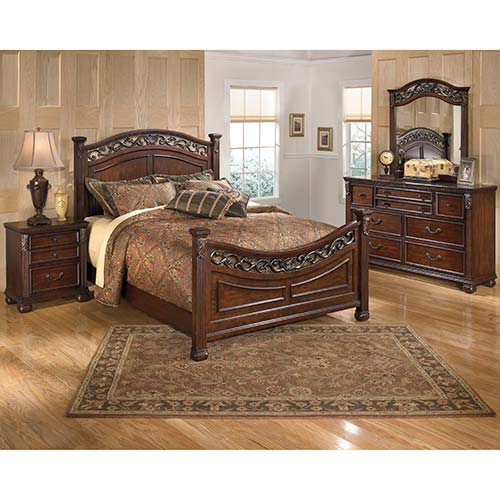 Rent To Own Ashley Leahyn 6-Piece Queen Bedroom Set