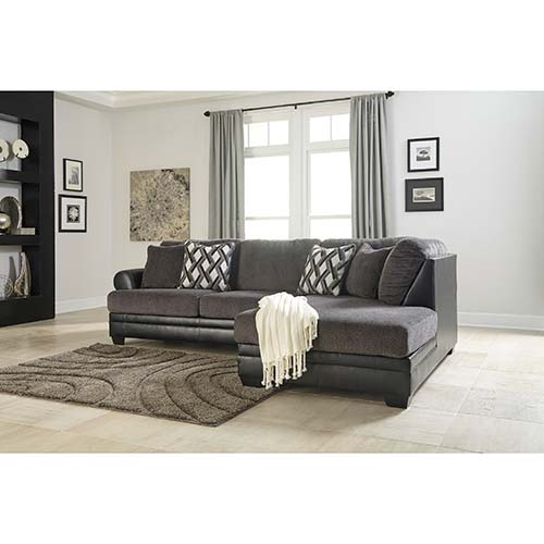 Benchcraft Asi Smoke Sofa Sectional With Cha