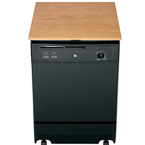 GE 24 inch Black Portable Dishwasher