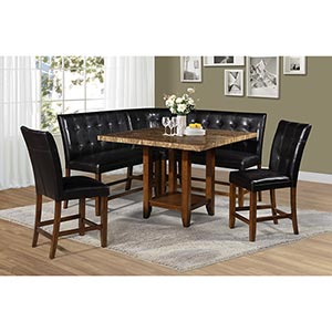 Steve Silver Cavett 6-Piece Counter Height Dining Room Set- Room View