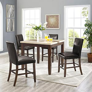 Powell Walden 5-Piece Counter Height Dining Set- Room View