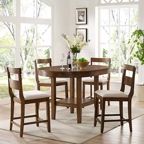 powell woodburn 5 piece counter height dining s