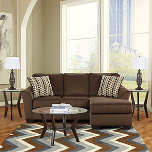 Signature Design by Ashley Geordie-Fantell 6-Piece Living Room Set- Room View
