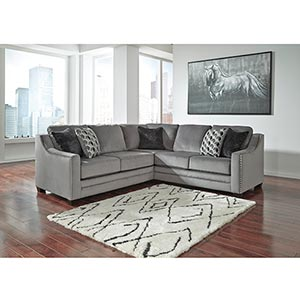 Benchcraft Bicknell-Charcoal 2-Piece Sectional- Room View