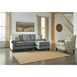 Benchcraft Benld-Marine Chaise Sofa and Accent Chair- Room View