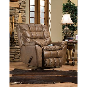 Simmons Sawyer Tobacco Rocker Recliner- Room View