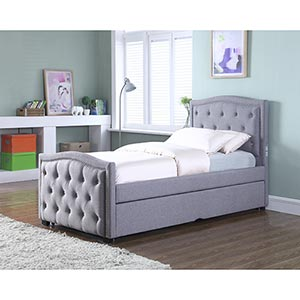 TPI Dazzle Twin/Twin Trundle Bed Set with Bluetooth- Room View