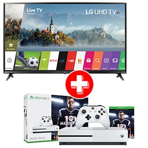 LG 49 inch 4K UHD LED Smart TV + Xbox One S Console Bundle