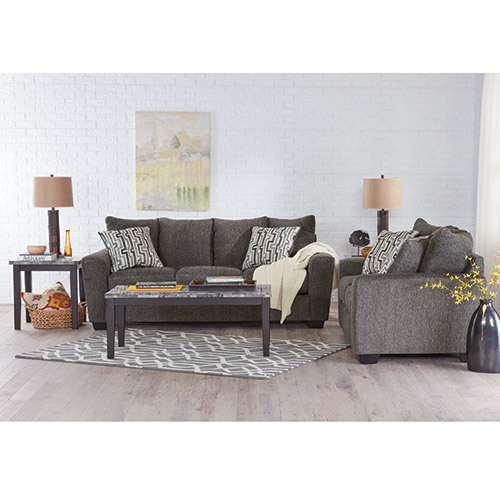 signature design by ashley twombley gray 7 piece living room set - Gray Living Room Images