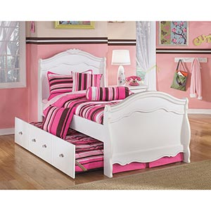 Signature Design by Ashley Exquisite Twin Over Twin Trundle Bed Set- Room View
