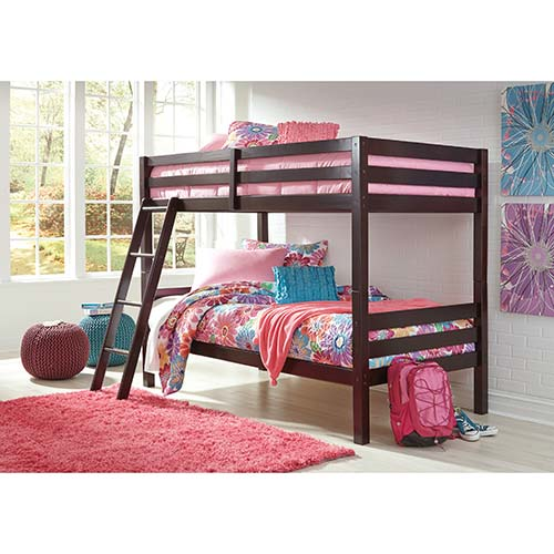 Rent To Own Ashley Halanton Twin Twin Bunk Bed Set