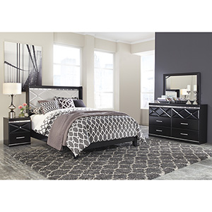 Signature Design by Ashley Fancee 6-Piece Queen Bedroom Set- Room View