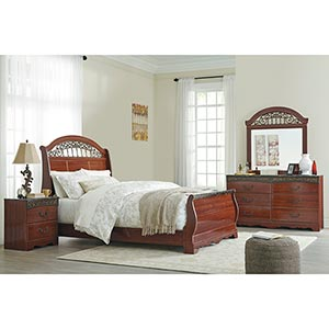 Signature Design by Ashley Fairbrooks-Estate 6-Piece Queen Bedroom Set- Room View