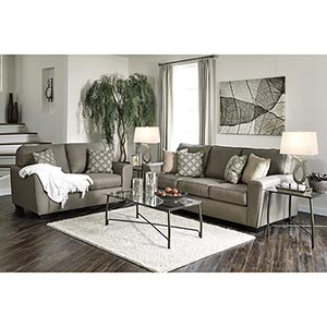 Benchcraft Calicho-Cashmere 7-Piece Living Room Set- Room View