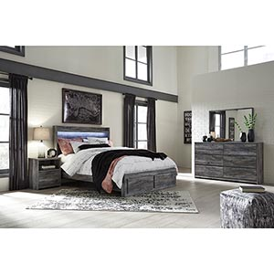 Signature Design by Ashley Baystorm 8-Piece Queen Bedroom Set with Mattress- Room View