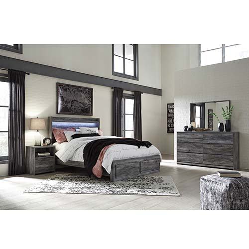Rent Signature Design by Ashley Baystorm 7-Piece King Bedroom Set