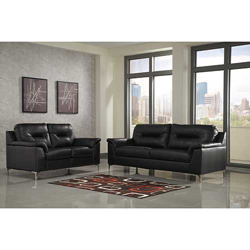 Signature Design By Ashley Tensas Black Sofa And Loveseat Room View