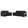 Signature Design by Ashley Tensas-Black Sofa and Loveseat
