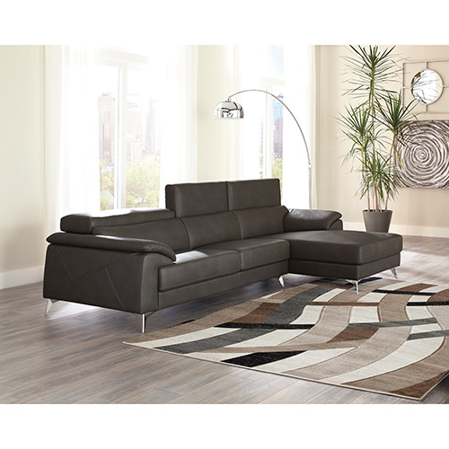 shipping in free sectional home garden product sofa abbyson gray chaise grey with light
