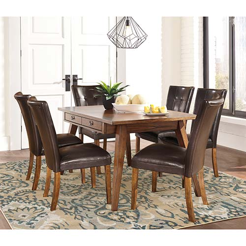 "Rent To Own Ashley ""Centiar"" 7-Piece Dining Set"