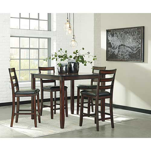 Signature Design by Ashley Coviar 5-piece Counter-Height Dining Set- Room View