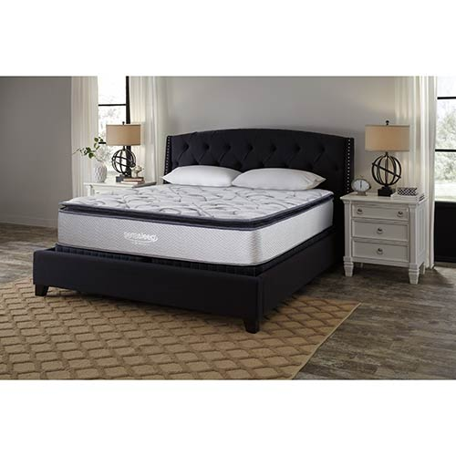 Ashley Sierra Sleep Curacao Pillow Top King Mattress Room View