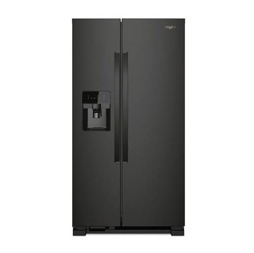 Whirlpool Black 21 Cu. Ft. Side-by-Side Refrigerator