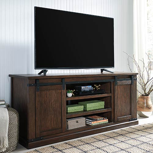 Rent To Own Signature Design By Ashley Budmore 70 Inch Tv Stand