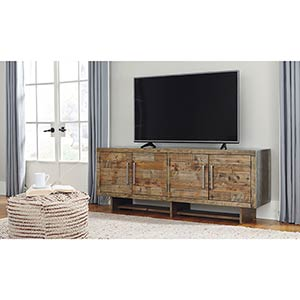 Signature Design by Ashley Mozanburg 72 Inch TV Stand- Room View