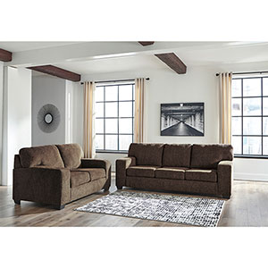 Signature Design by Ashley Termoli-Chocolate Sofa and Loveseat- Room View