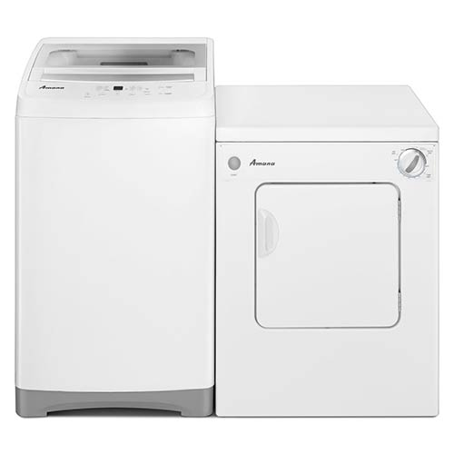Amana 1.5 Cu. Ft. Compact Washer and 3.4 Cu. Ft. Compact Dryer