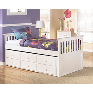 Signature Design by Ashley Lulu Twin Trundle Bed- Room View