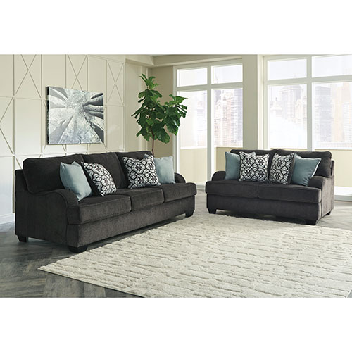 Rent To Own Benchcraft Charenton Gray Sofa And Loveseat