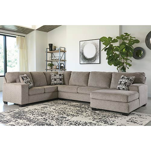 Rent Signature Design By Ashley Ballinasloe Platinum 3 Piece Sectional