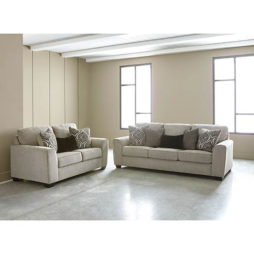 Ashely Home Store: Benchcraft Parlston-Alloy Sofa And Loveseat For Rent