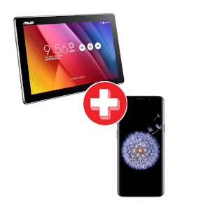 5.8 inch Galaxy S9 and ASUS ZenPad 10 Tablet Bundle