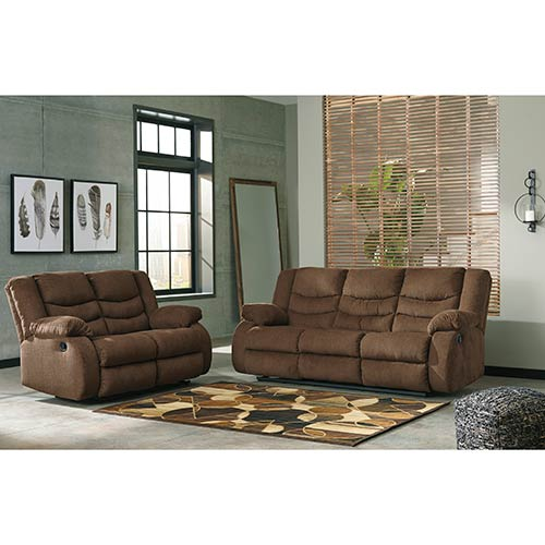 Ashley Home Furniture Store Hours: Ashley Tulen-Chocolate Reclining Sofa And Loveseat For