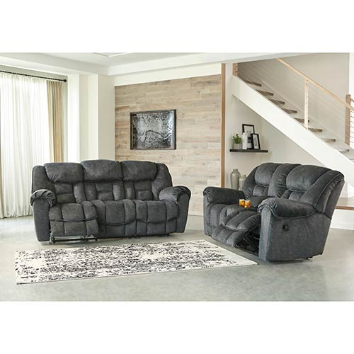 Rent Signature Design By Ashley Capehorn Granite Reclining Sofa And