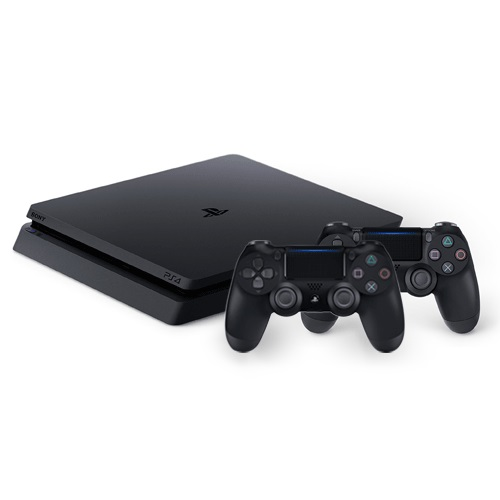 Sony Playstation 4 Slim 1TB Video Game Console- 2 Controllers