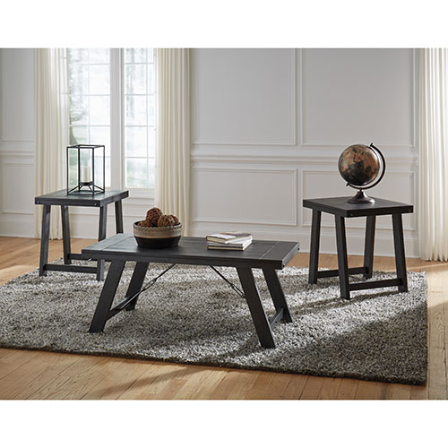Ashley Mallacar Piece Coffee Table Set In Black T: Rent To Own Signature Design By Ashley Noorbrook Coffee