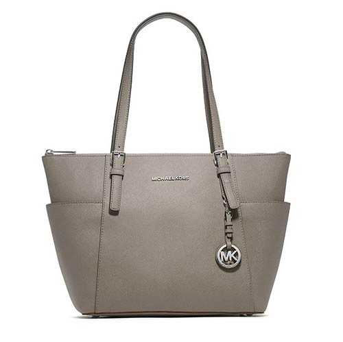 Michael Kors Jet Set East West Large Tote - Pearl Gray